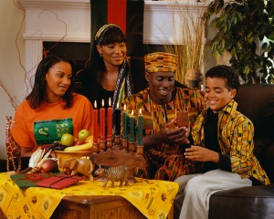 Family Celebrating Kwanzaa