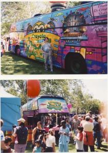 Don - Crayola bus - 1 - Don designed bus and set