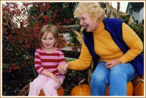 Aria & me at Schuh Farms - 10-14-05