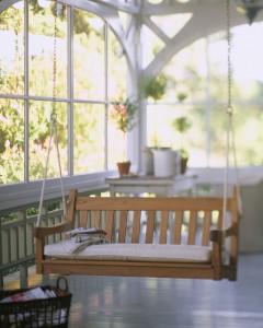 Swing on Porch ca. 2000